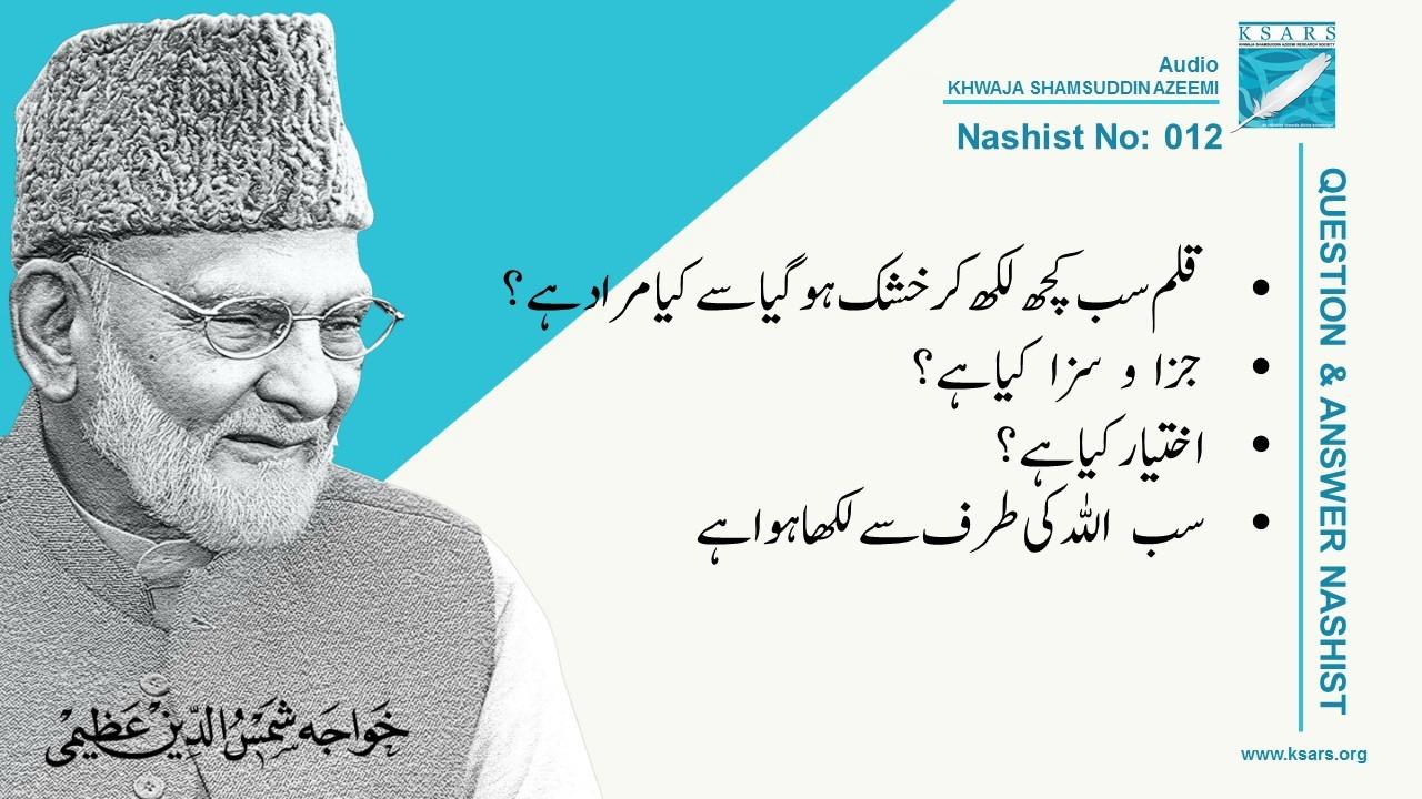 Q&A Qalam Likh Kar Khushk