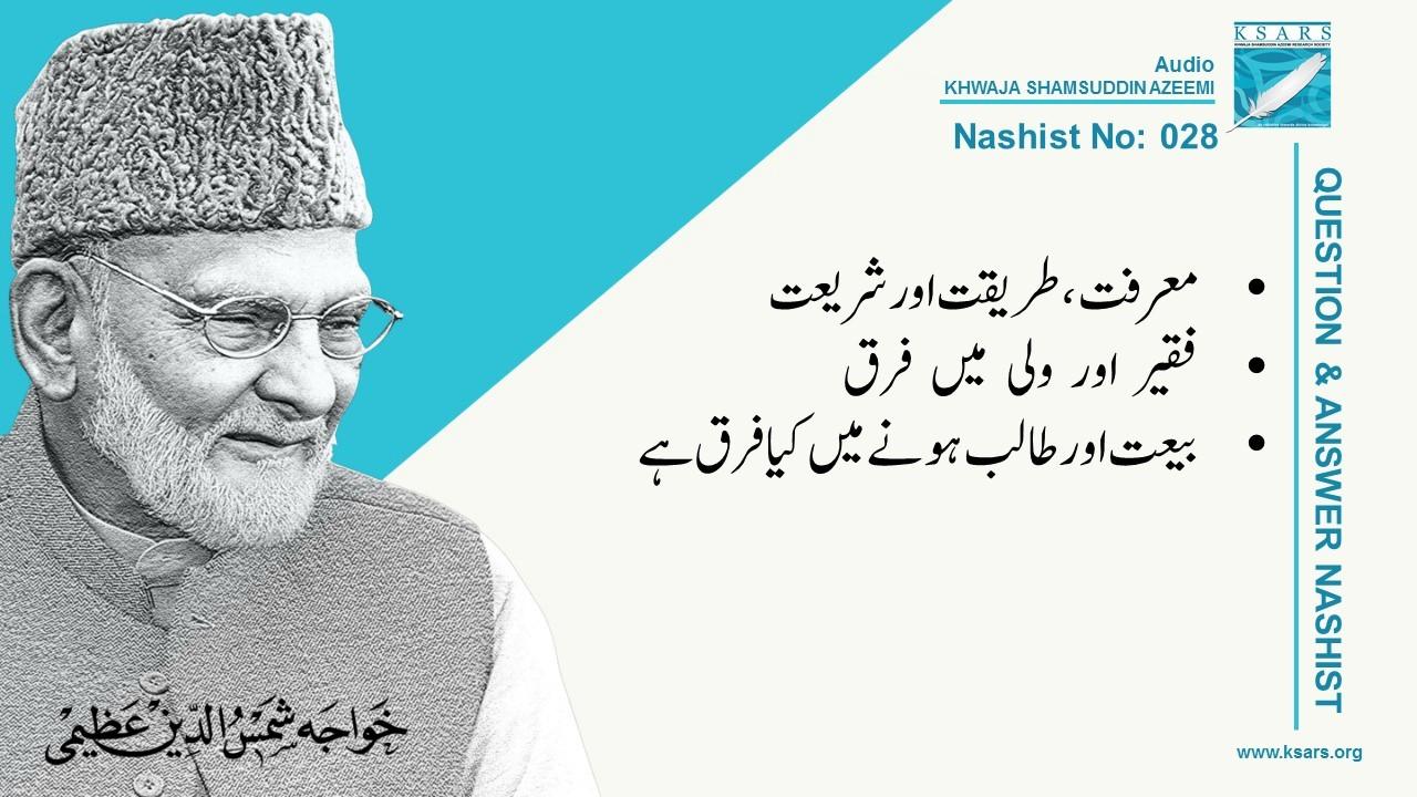 Q&A Marfat Bait Taalib