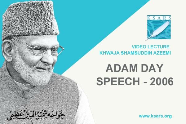 ADAM DAY Speech 2006