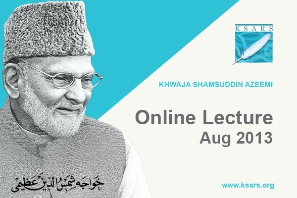 Online Lecture Aug 2013